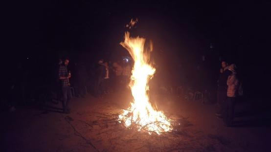 bonfire in China